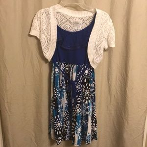 Girls Justice dress with wrap